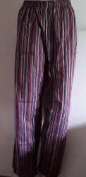Mauve, Red, Grey Multicoloured Striped Trousers