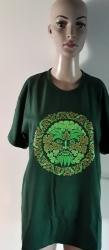 Celtic; Green Man T-Shirt, Crew Neck