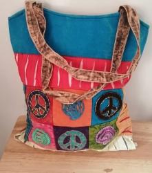 Peace Shoulder Bag, Blue