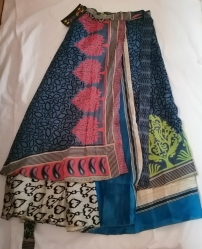 Wrap-around Sari Skirt