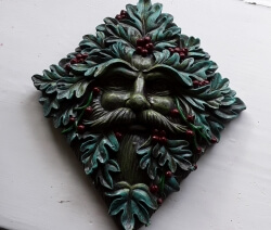 Green Man Wall Plaque, Holly King