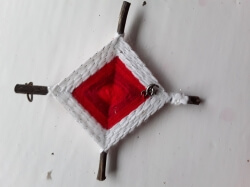 Red/White Brigid Cross, 4