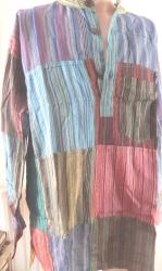 Mens' Patchwork Shirt, size L