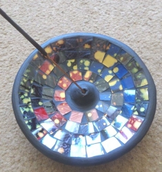Round Mosaic Incense Burner