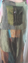 Patchwork Dungarees Size L