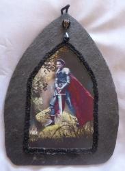 Arthur and Excalibur Purple Slate