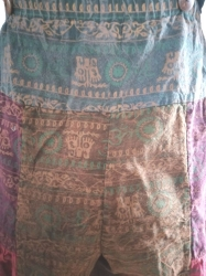 Hippie Patchwork Dungarees Size M