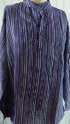 Mens' Shirt, purple stripe size XL