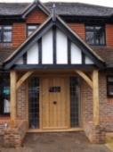 Oak Door & Porch