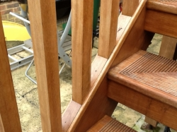 Iroko External Staircase