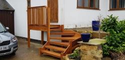 External Iroko Staircase