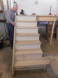 American White Oak Staircase Construction