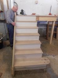American White Oak Staircase Construction