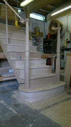 Cut String Oak Stairs