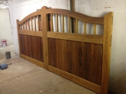 Iroko Double Gates