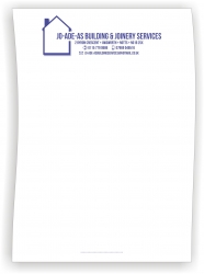 250 Letterheads, one ink colour, single sided
