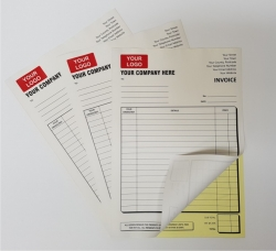 250 One Ink Colour NUMBERED A5 Duplicate NCR Sets
