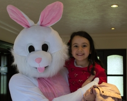 We had a visit from the Easter Bunny!
