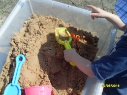 How many sandcastles can we make in the damp sand?