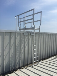 we manufacture floor to roof safety ladders any height