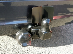Fixed Flange Towbar, with Bumper Protector Plate and Rubber Covers