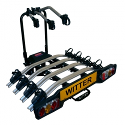 Heavy Duty, Clamp-On 'Towball Mounted' - Four Bike, Cycle Carrier