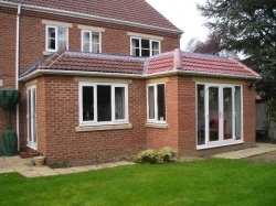 Extension completed on side of semi-detached house