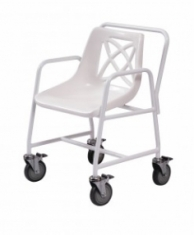 Mobile Shower Chair with Footrest and Brake Castors