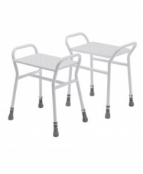 Belmont Adjustable Shower Stool with Metal Seat