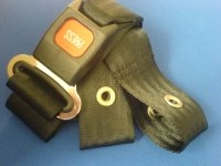 BUCKLE SEAT BELT WITH END LOOPS