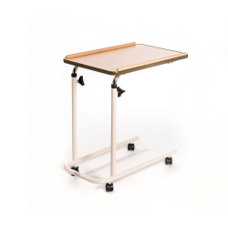 Over Bed Table with Open Base & Castors