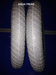 Pair of 250 - 8 TYRE AQUA TREAD