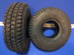 PAIR of Black 260 x 85, 300 x 4 Block Tyre
