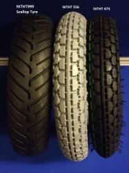 Pair of 250 x 6 Tyre
