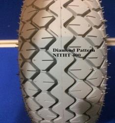 PAIR OF 400 / 5 or 330 x 100 Grey Tyre