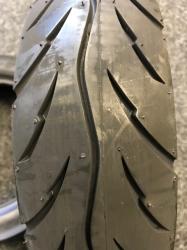 Pair of 80 / 80 -8 Black Tyres