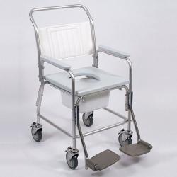 Aluminium Mobile Shower / Commode Chair NITHC 120