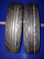 Pair of Black Tyre 90 / 80 - 8
