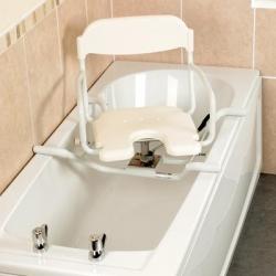 White Swivelling Bath Seat