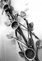 Twisted Leaf Candle Holder