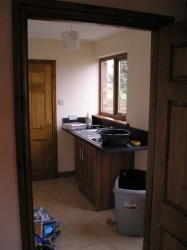 This is an example of the kitchens I fitted into my bungalows at The Old Bakery site in Gretna