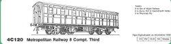 4C120 Metropolitan Railway 8 COMPARTMENT THIRD
