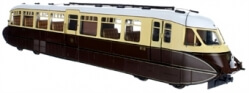 7D-011-002D Streamlined Railcar 10 Lined Chocolate & Cream GWR Monogram DCC