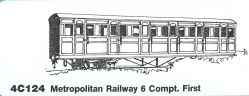 4C124 Metropolitan Railway 6 COMPARTMENT FIRST