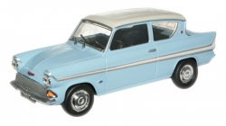 FORD ANGLIA 105A GLACIER BLUE/WHITE -YELLOW - MONARCO RED