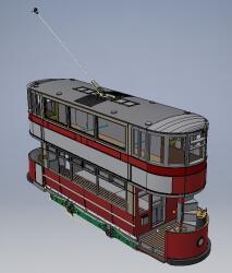 single boom ex-LCC M class tram