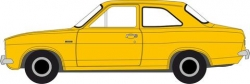 FORD ESCORT MK1 DAYTONA YELLOW