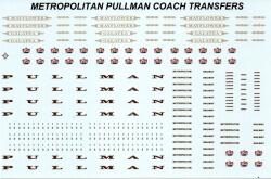 4mm 00 GAUGE TRANSFERS METROPOLITAN & PULLMAN