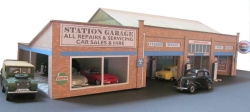 OMDG  Half relief Main Dealer Garage with petrol pumps