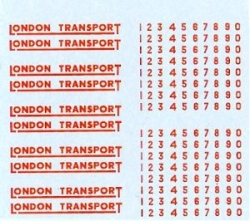 2mm LONDON TRANSPORT UNDERLINED IN RED